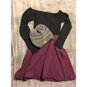 Forever 21+ Burgundy Skirt
